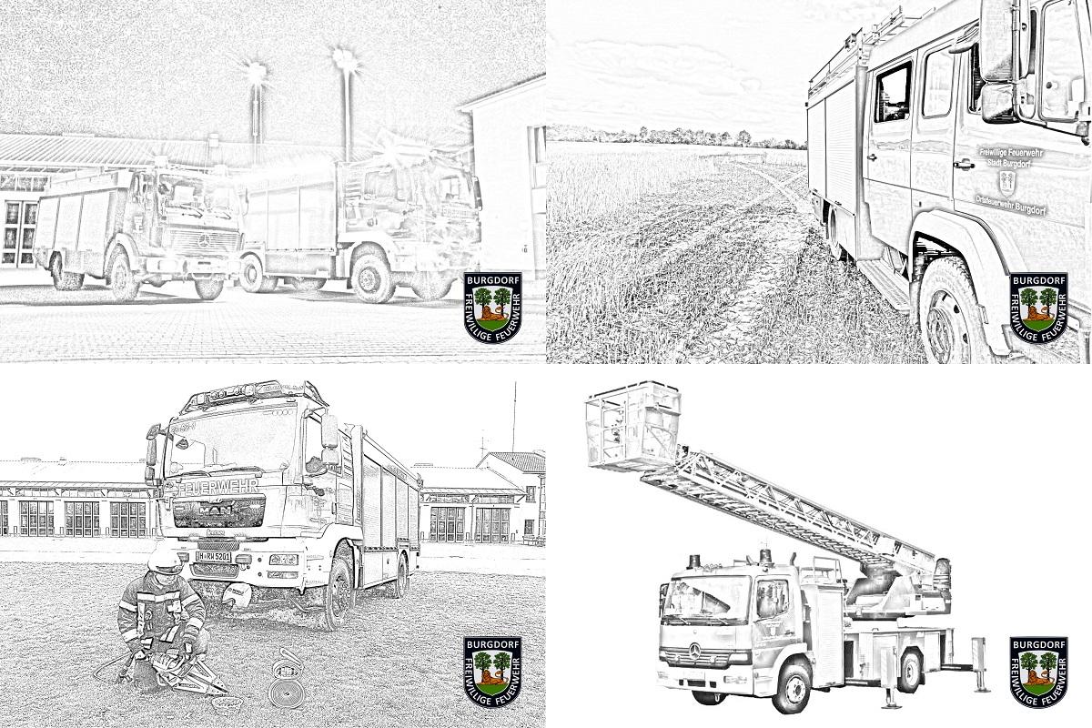 Ausmalbilder - Feuerwehr Burgdorf